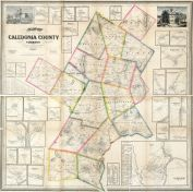 Caledonia County 1858 Wall Map 42x42, Caledonia County 1858 Wall Map